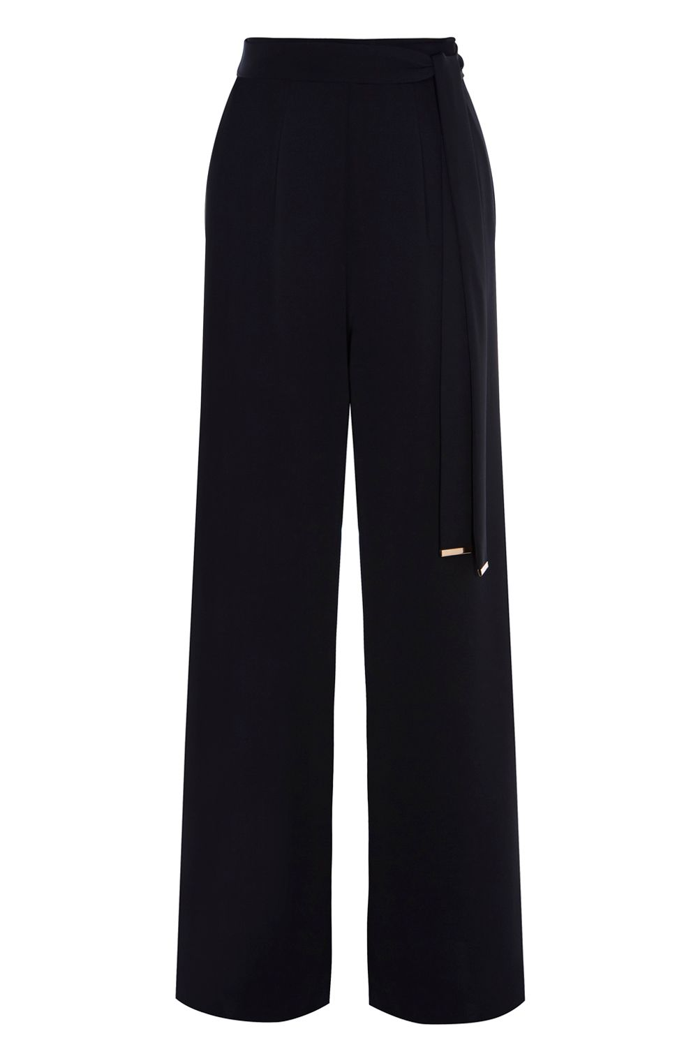 Coast Coast Megan Wide Leg Trousers, Black