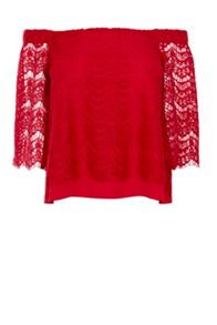 Coast Halinan Lace Bardot Top