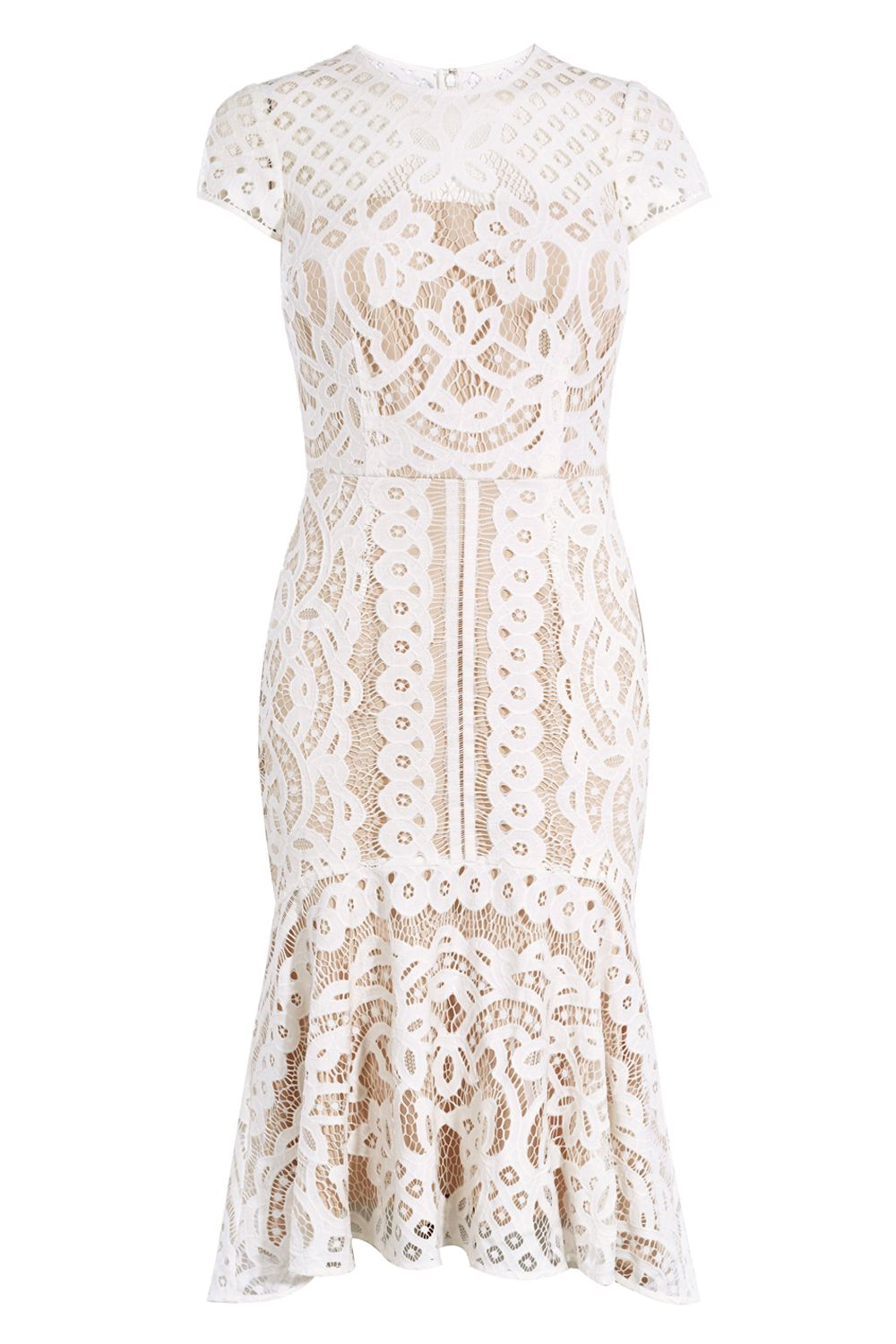 Coast Coast Dee Dee Lace Dress, Neutral