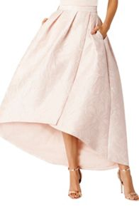 Coast Leah Jacquard Hi Low Skirt