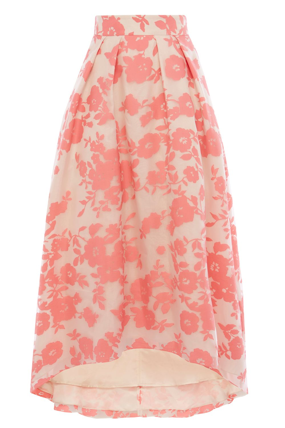 Coast Bliss Burnout Skirt, Coral