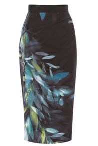 Coast Morselli Printed Pencil Skirt