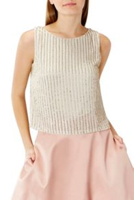 Coast Comet Sequin Top