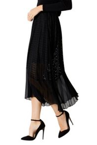 Coast Amira Lace Pleated Skirt