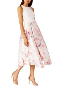 Coast Orsay Floral Midi Dress Shorter Length