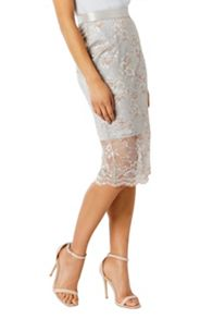 Coast Halle Lace Pencil Skirt
