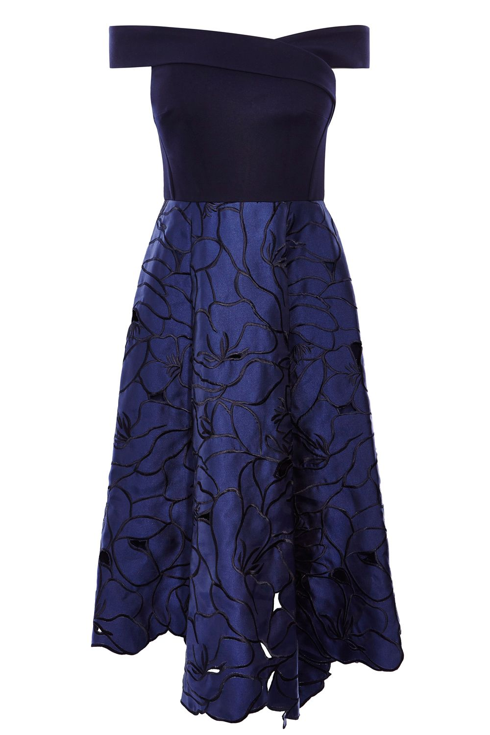 Coast Coast Velerie Artwork Midi Dress, Navy