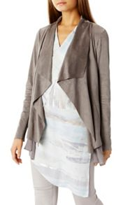 Coast Jenner Pu Draped Jacket