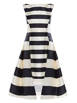 Kady Stripe Full Midi Dress