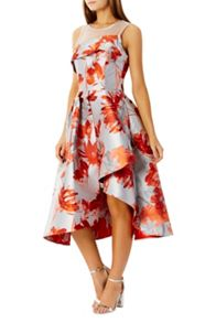 Coast Aurora Jacquard Midi Dress Shorter Length