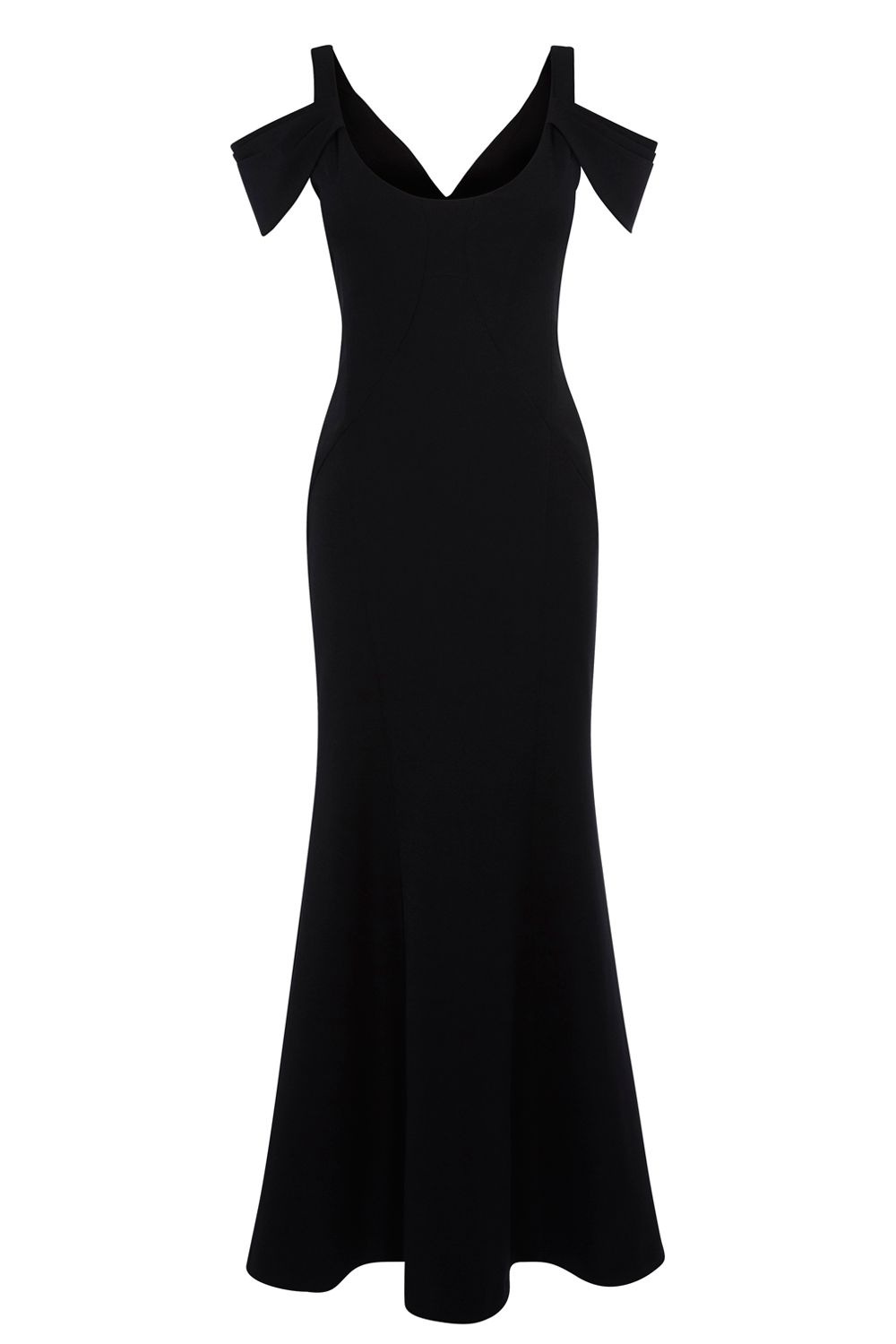 Coast Coast Abriella Structured Maxi Dress, Black