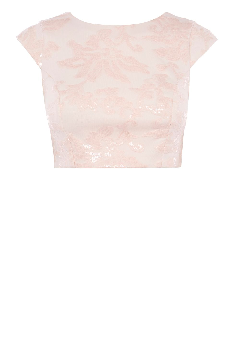 Coast Alexus Sequin V Back Top, Pink