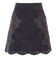 Coast Fretwork Lace Trim Skirt