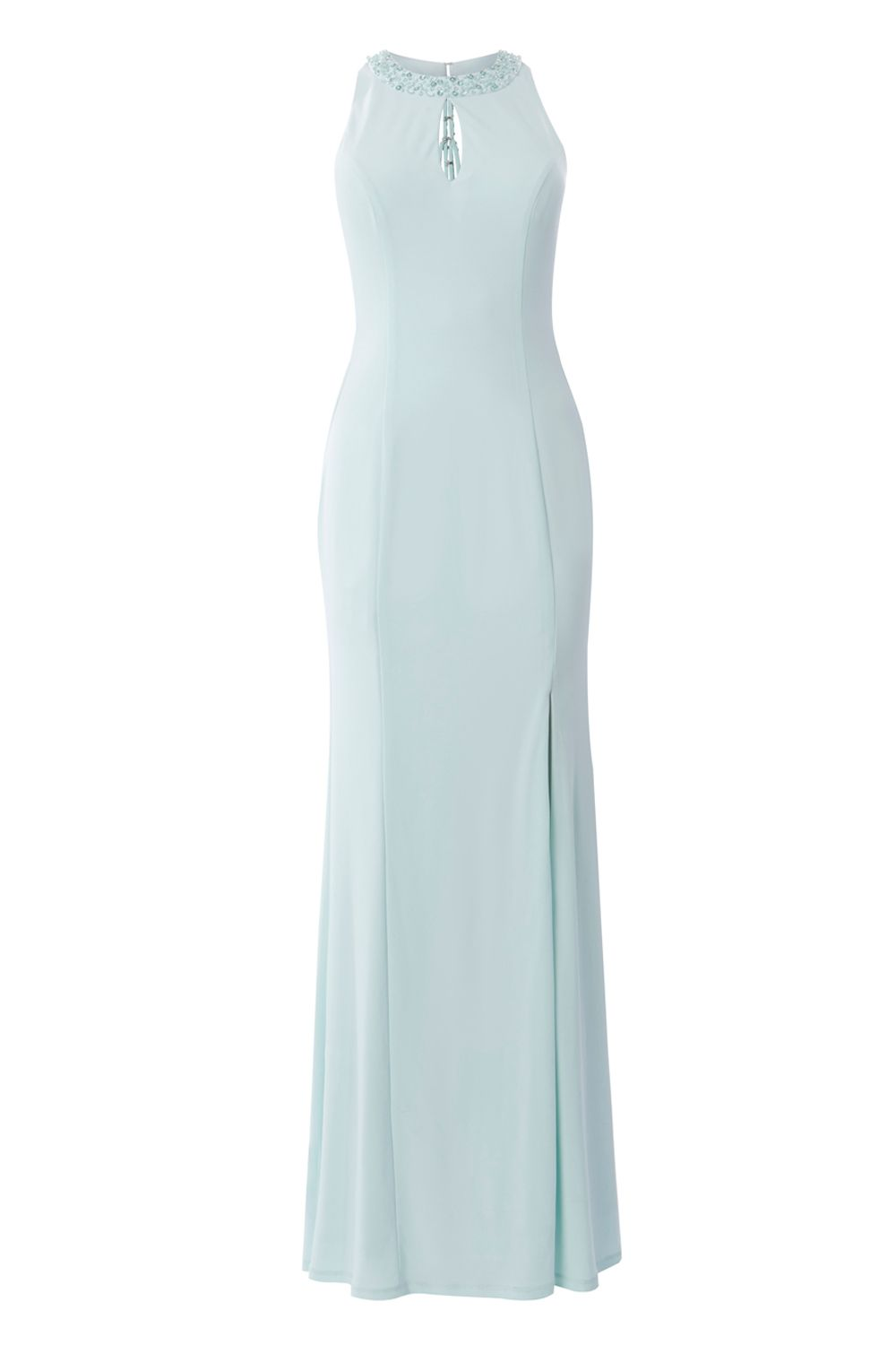 Coast Avril Backless Prom Dress, Mint