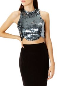 Coast Alice Sequin Prom Crop Top