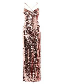 Kadie Sequin Maxi Prom Dress