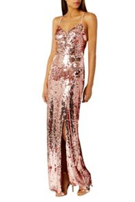 Coast Kadie Sequin Maxi Prom Dress