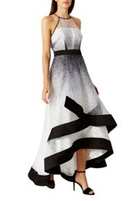 Coast Alicia Mono Spot Maxi Dress