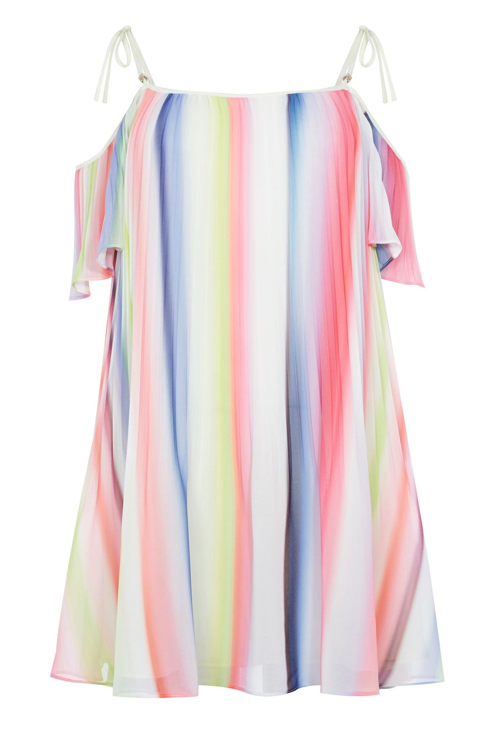 Coast Ivy Printed Stripe Dress, Multi-Coloured