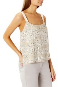 Coast Cherries Sequin Cami Top