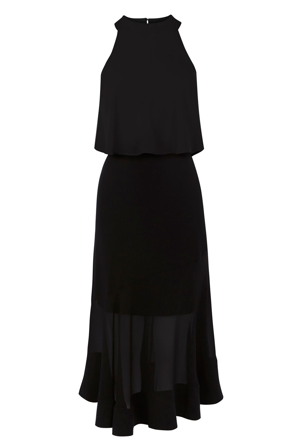 Coast Coast Lola Midi Dress Shorter Length, Black