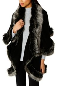 Coast Kate Faux Fur Cape