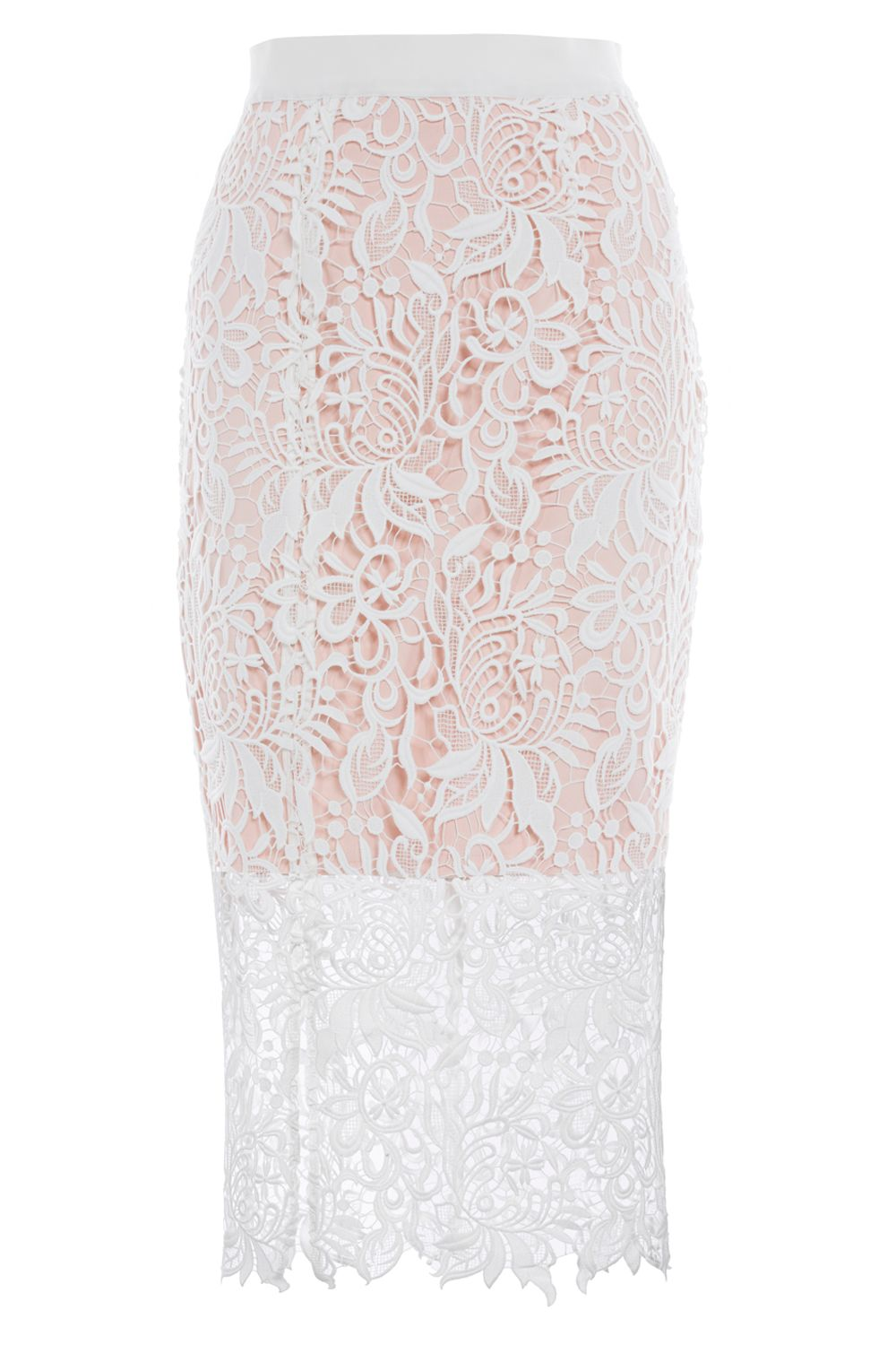 Coast Melva Lace Skirt, White