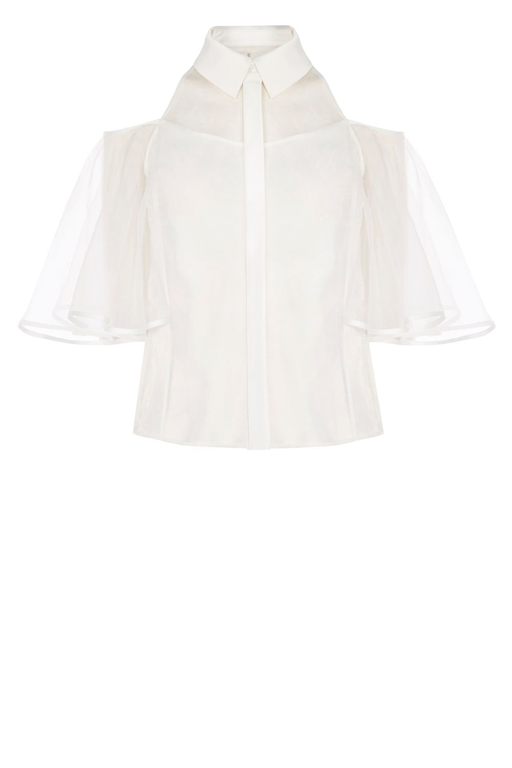 Coast Hyde Organza Shirt, White