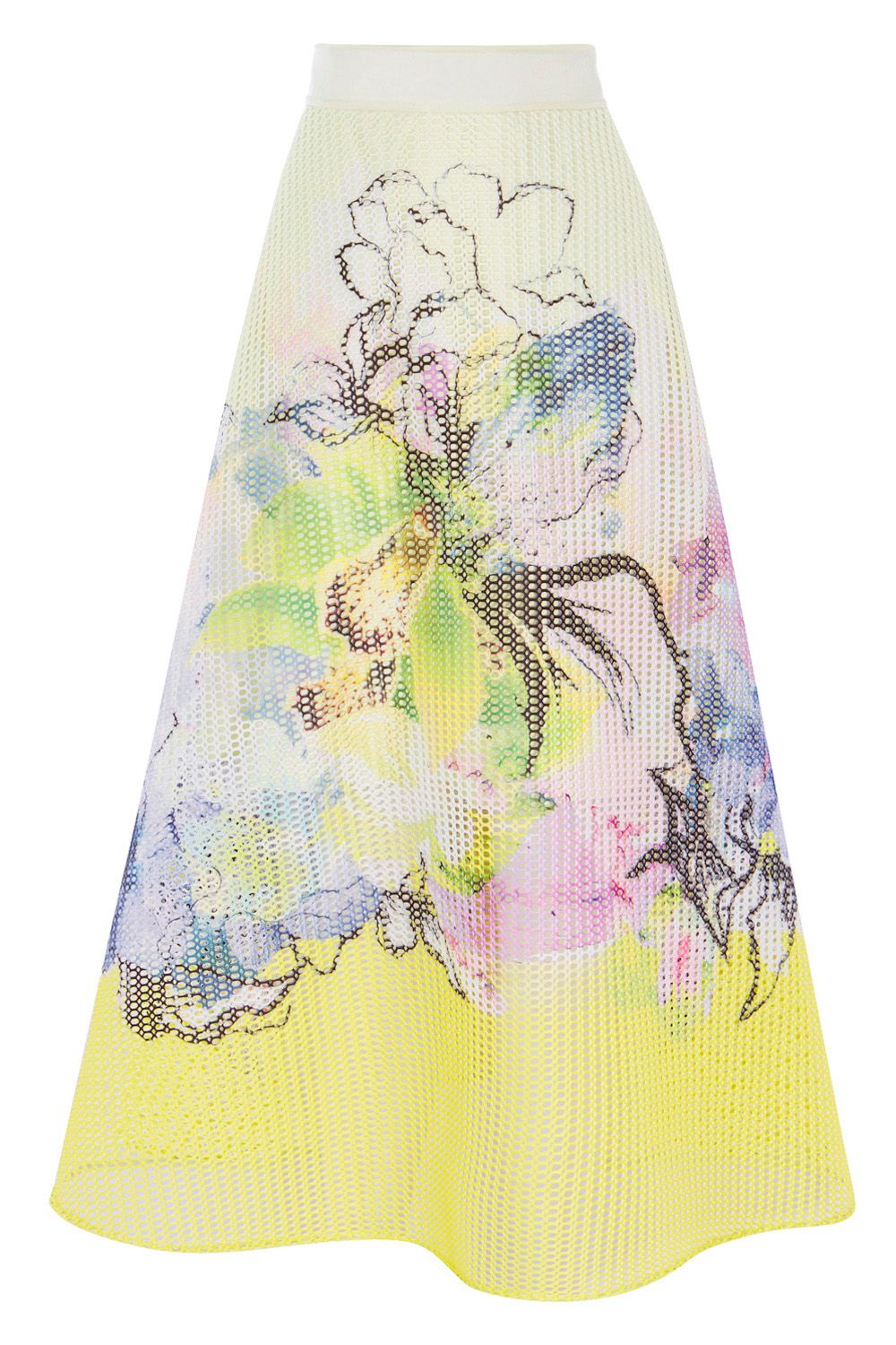 Coast Daisy Mesh Skirt, Lime