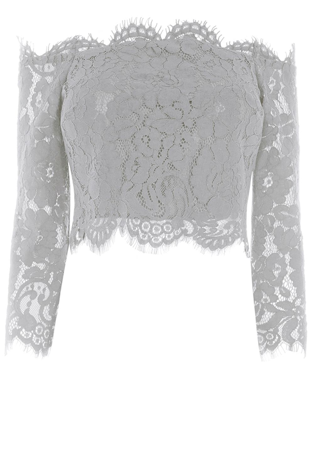 Coast Marr Lace Bridesmaids Top, Silver