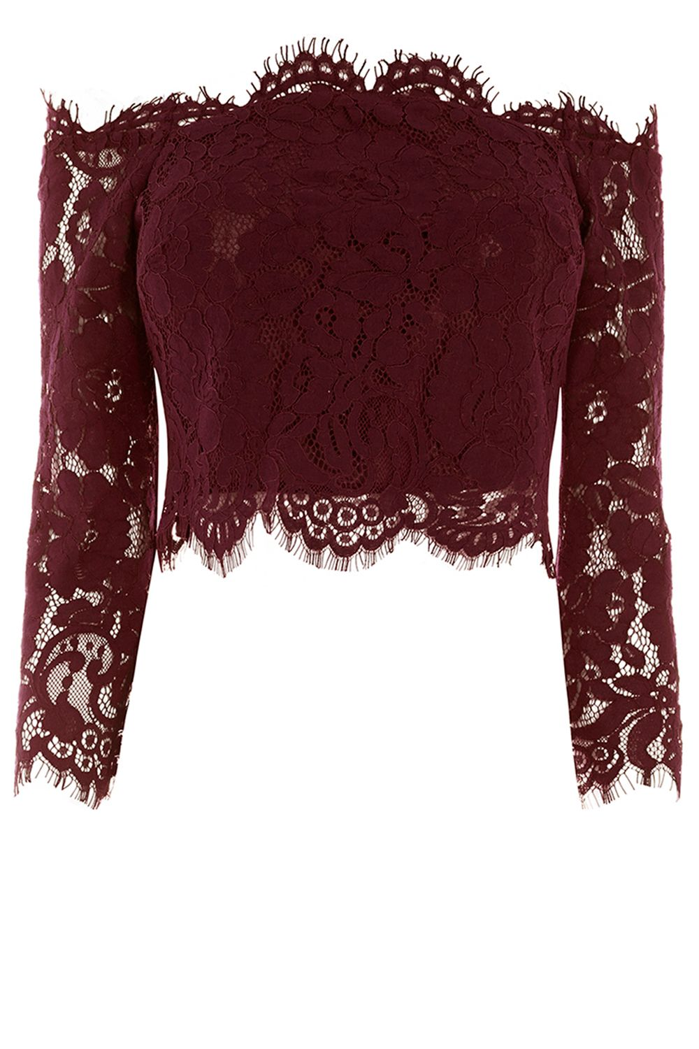 Coast Marr Lace Bridesmaids Top, Wine