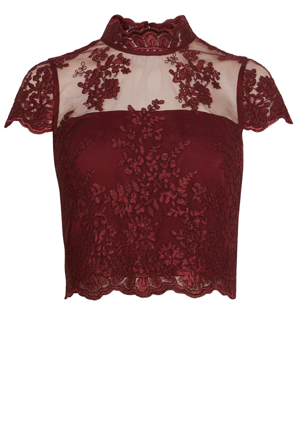 Coast Jen Lace Bridesmaid Top, Wine