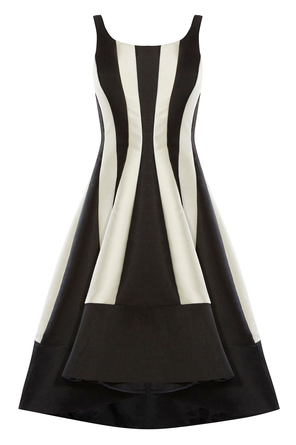 Coast Aria Mono Stripe Dress, MonoSilver