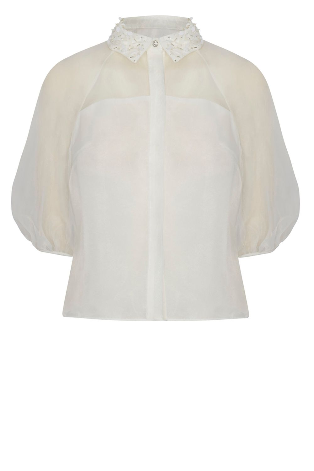 Coast Joy Embellished Blouse, White