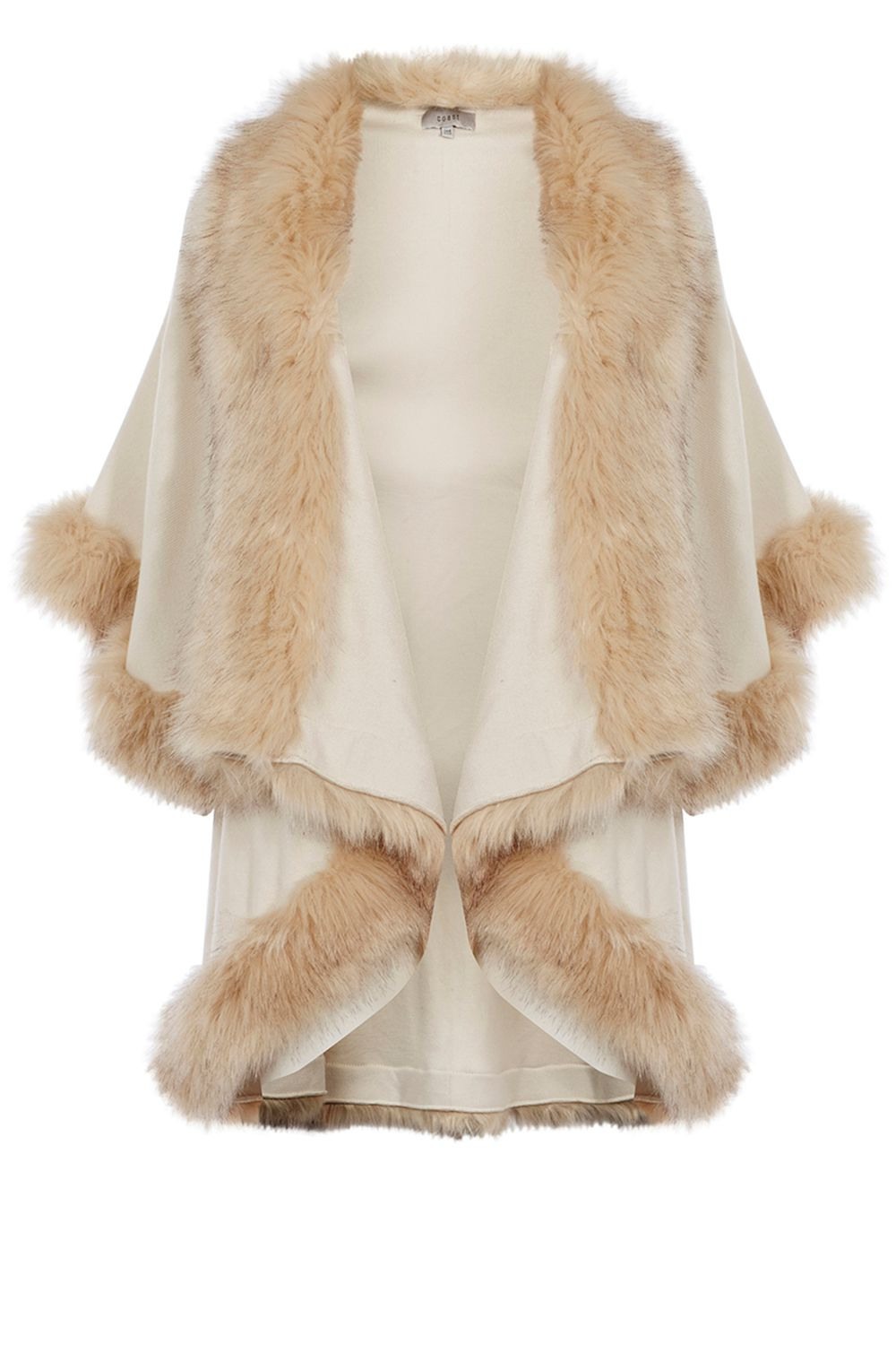 Coast Kate Faux Fur Cape, White