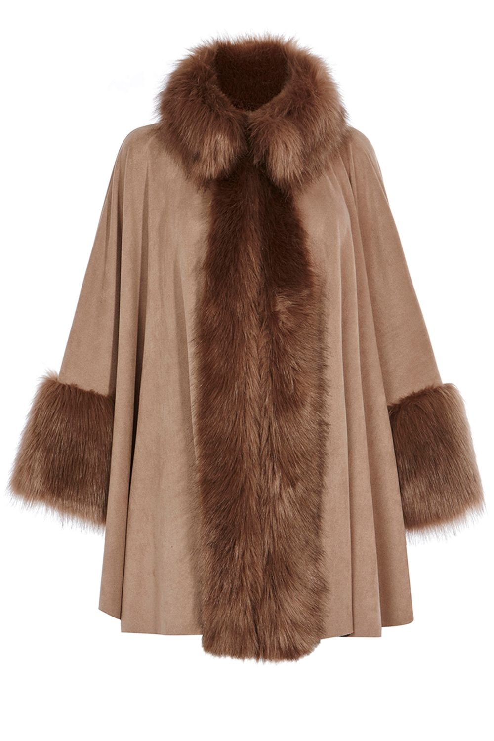 Coast Bostock Faux Fur Cape, Neutral