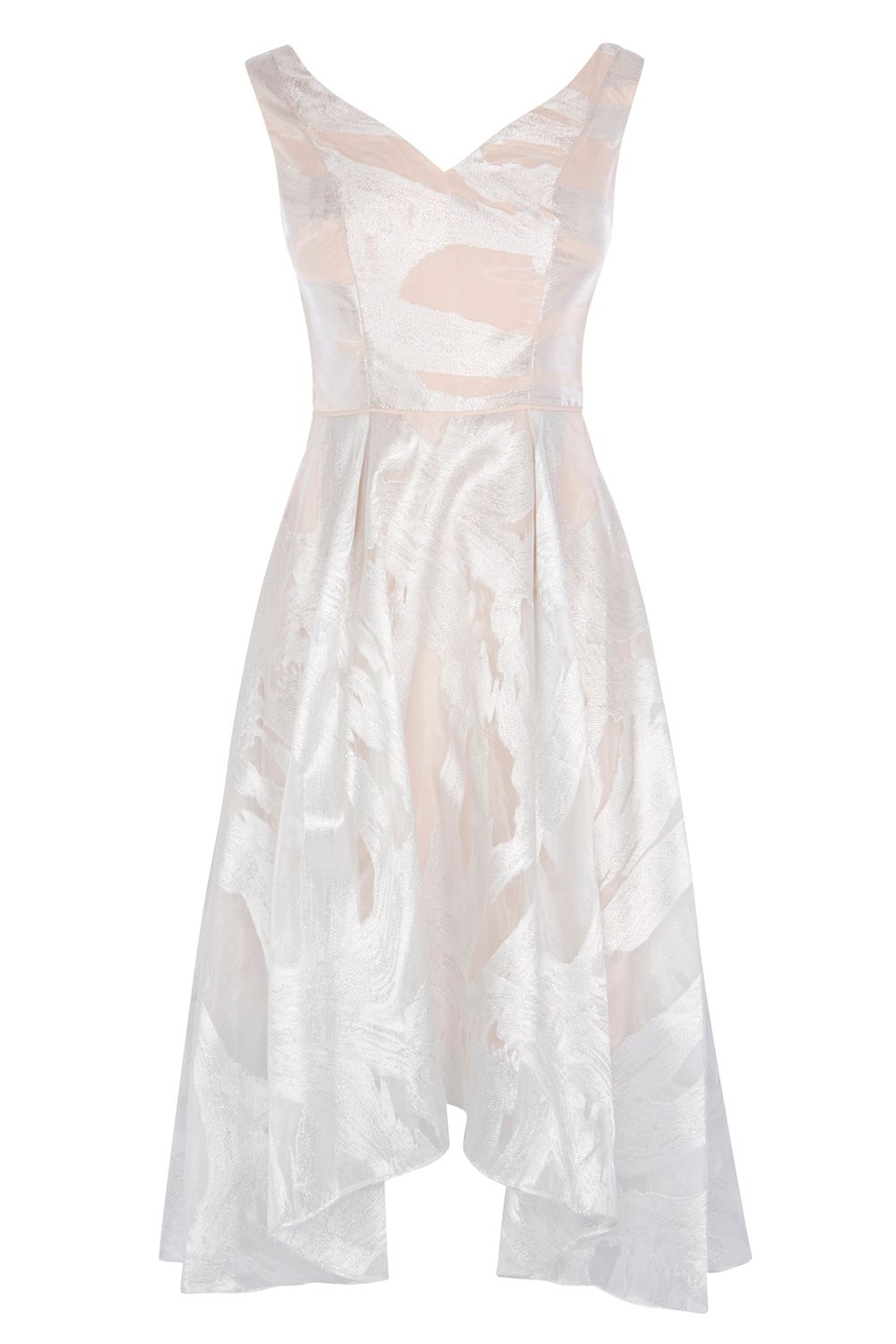 Coast Pip Jacquard Dress, Silver