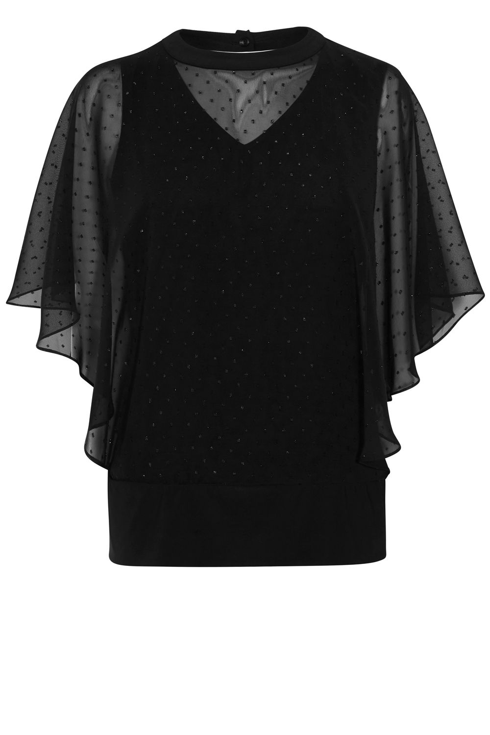 Coast Mia Spot Calla Top, Black