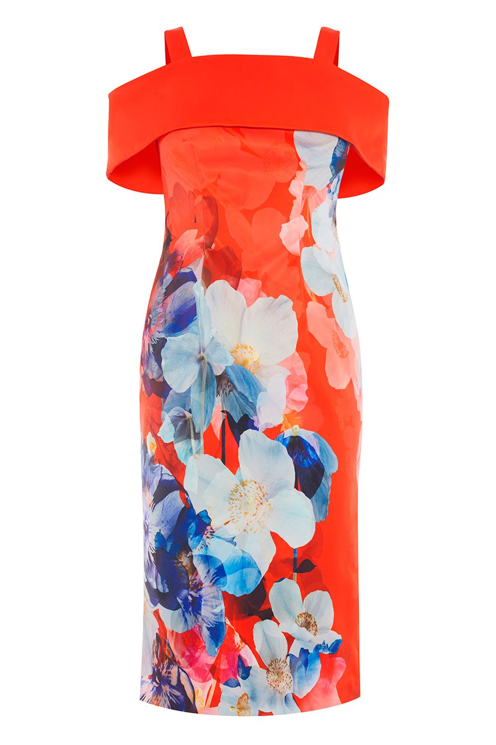 Coast Immo Print Shift Dress, Multi-Coloured