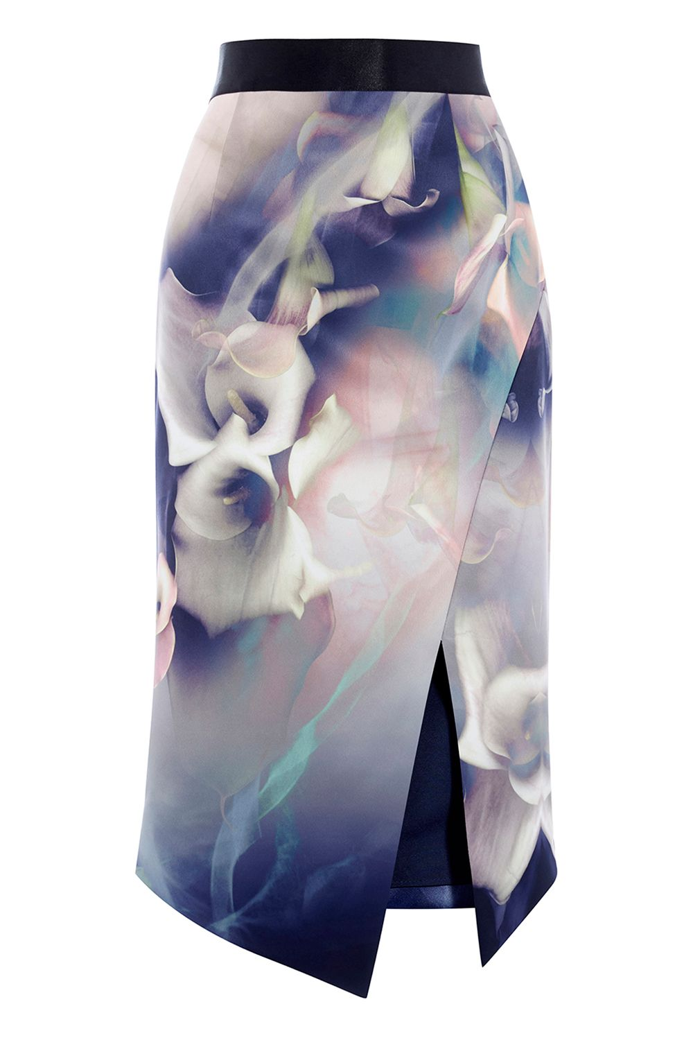 Coast Selenis Printed Pencil Skirt, Multi-Coloured