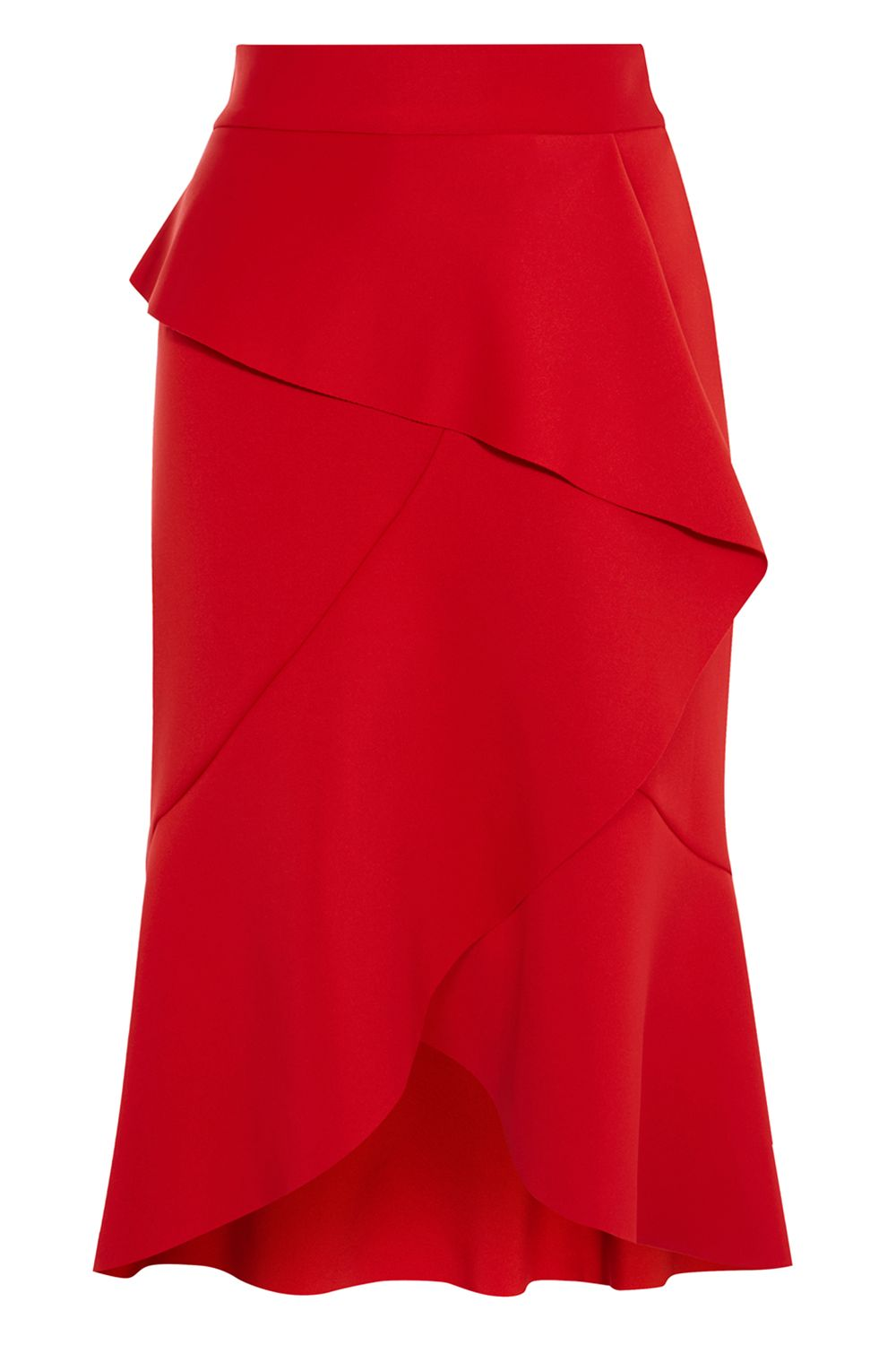 Coast Keegan Ruffle Skirt, Red