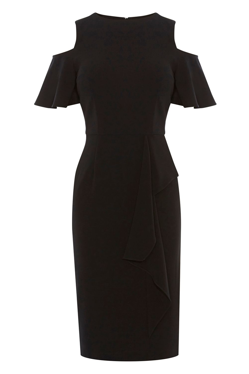 Coast Lendra Crepe Dress, Black