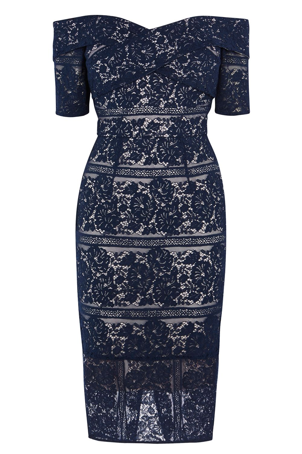 Coast Caldera Lace Shift Dress, Blue