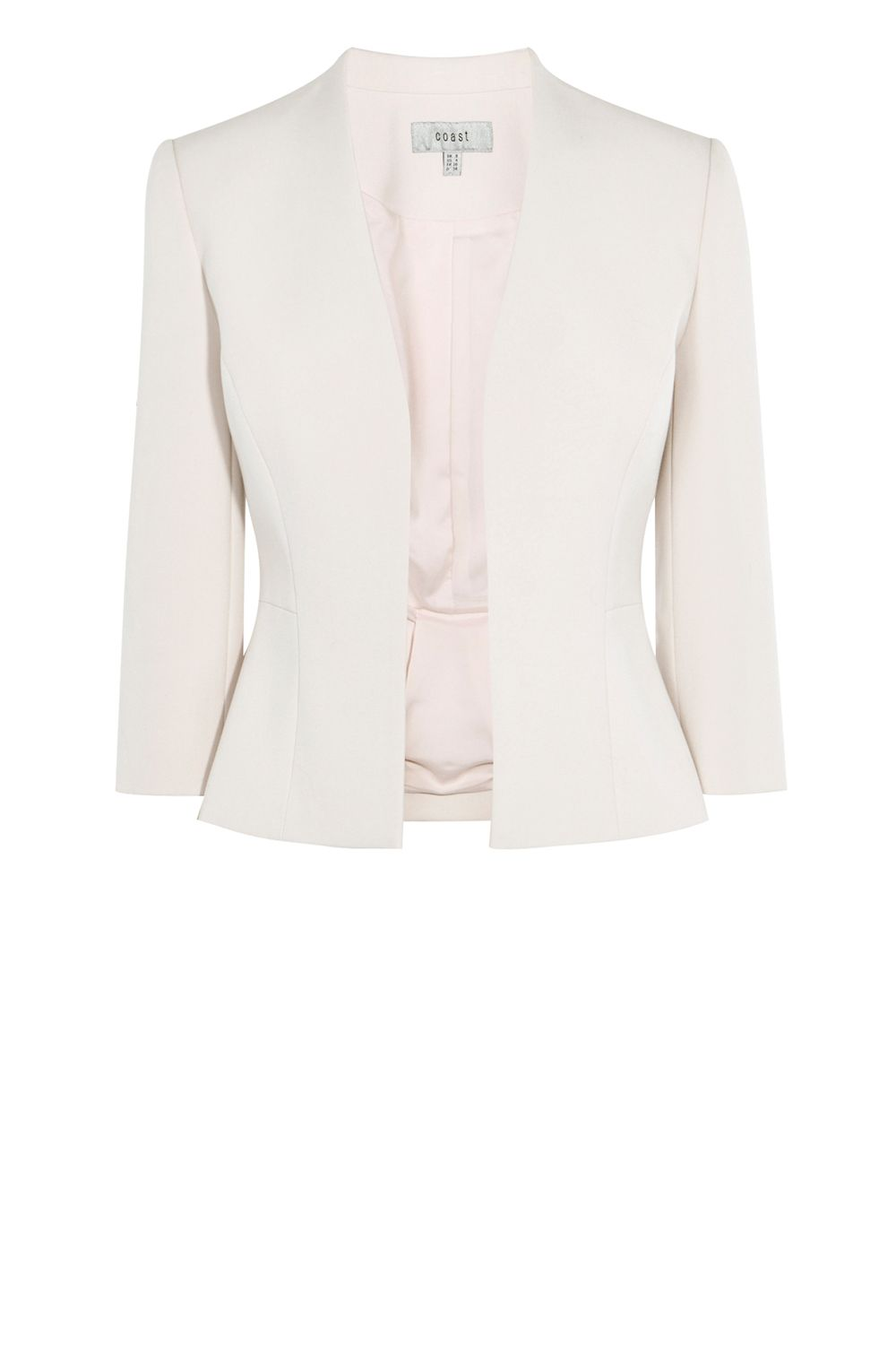 Coast Deandra Short Peplum Jacket, Pink
