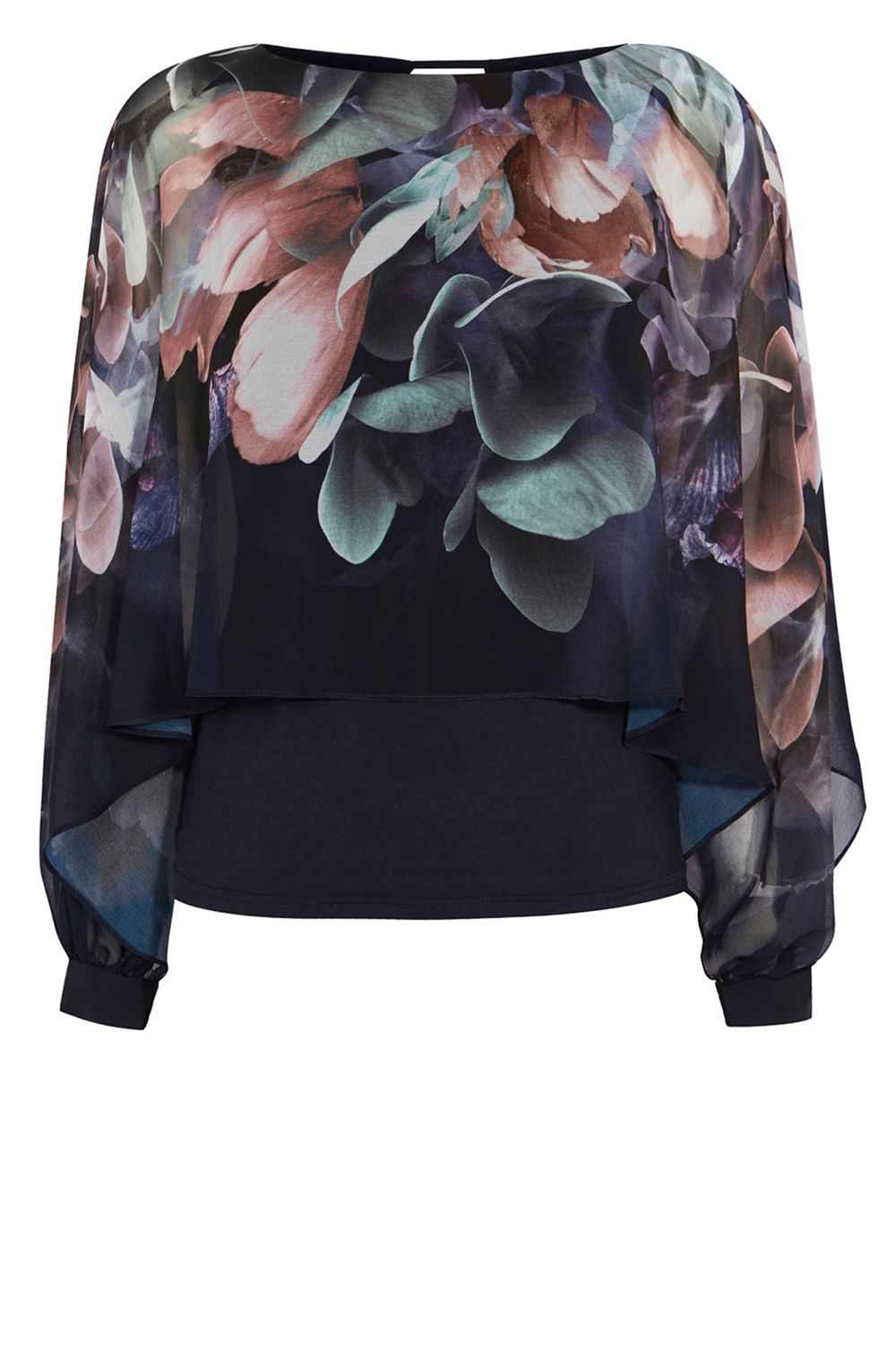 Coast Minnelli Print Overlay Top, Multi-Coloured