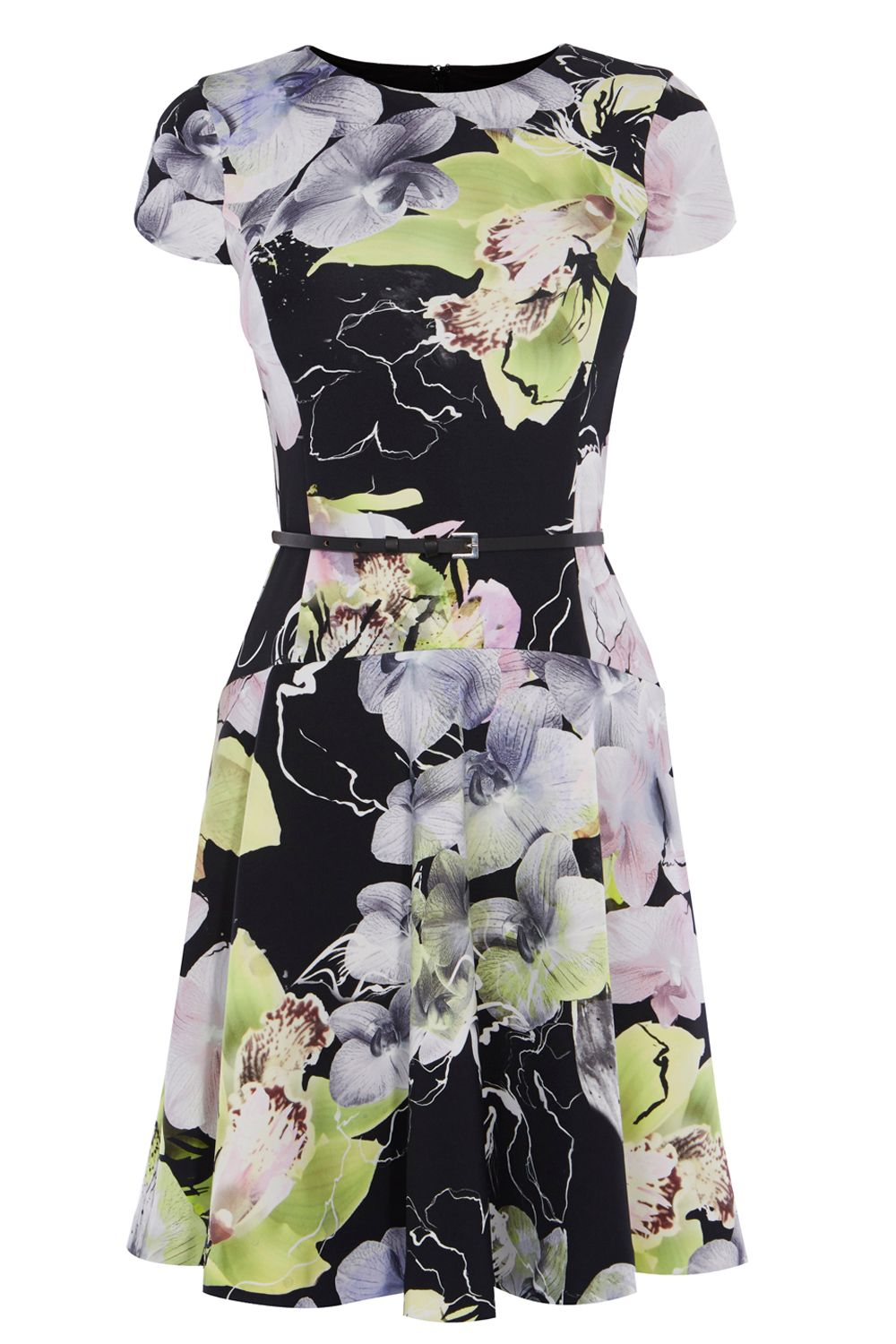 Coast Barbette Scuba Print Dress, Multi-Coloured