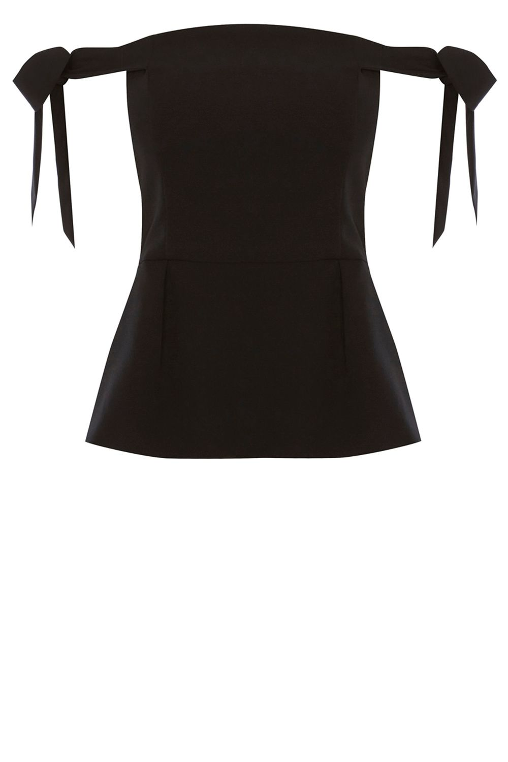 Coast Naz Tie Peplum Top, Black