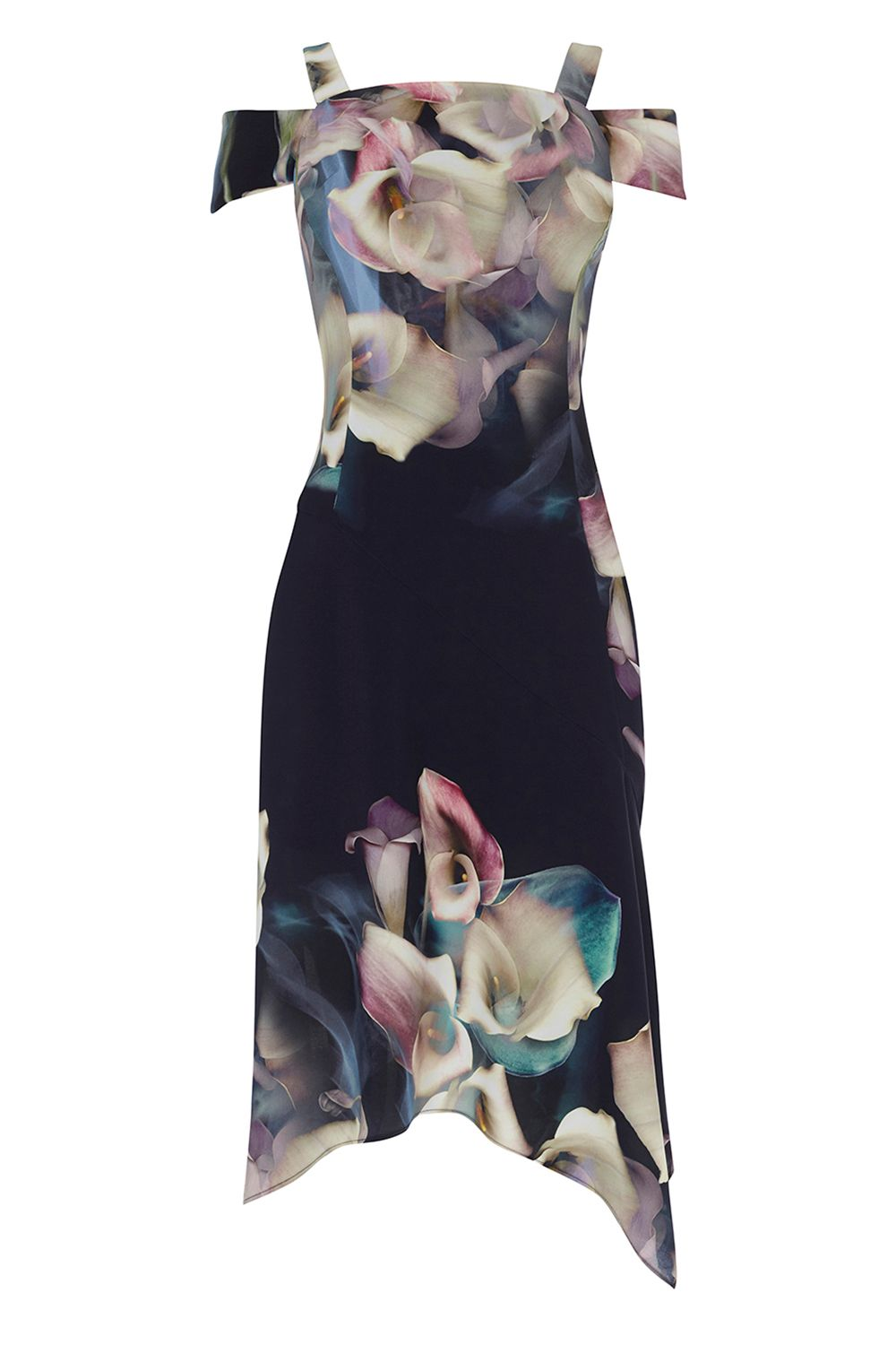 Coast Lily Print Soft Shift Dress, Multi-Coloured