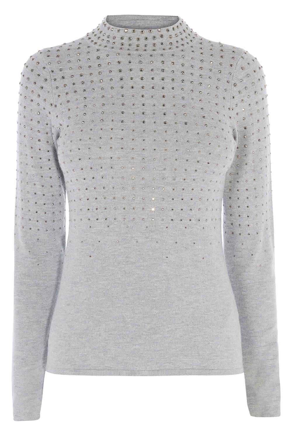Coast Sadie Hotfix Knit Top, Grey