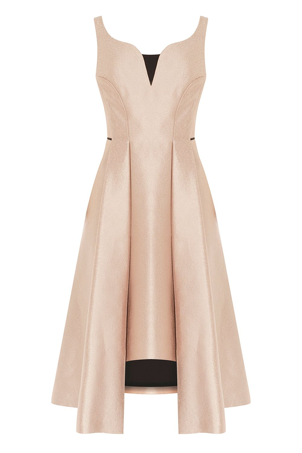Coast Orella Full Midi Dress, Gold